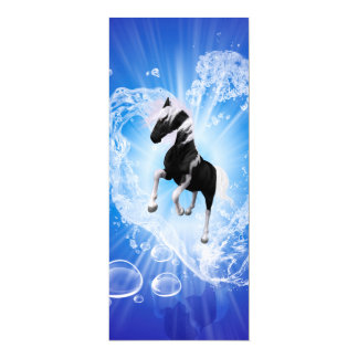 Horse in a heard made of water 4x9.25 paper invitation card