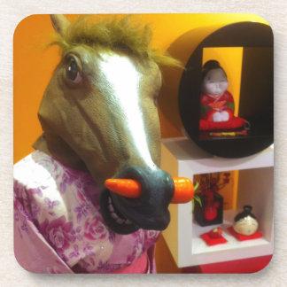 Horse In A Kimono Beverage Coasters