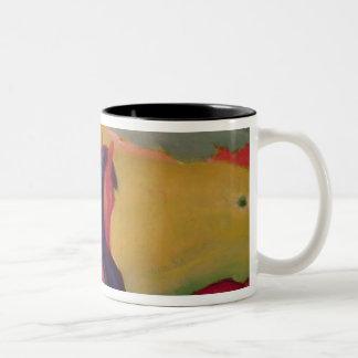 Horse in a landscape, 1910 Two-Tone coffee mug
