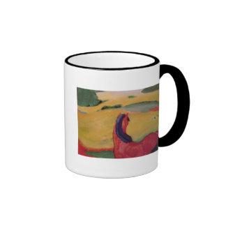 Horse in a landscape, 1910 ringer coffee mug
