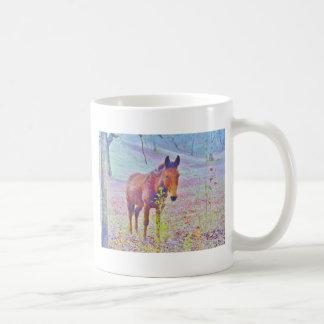 Horse in a Pastel RAINBOW PURPLE FIELD : add name Coffee Mug