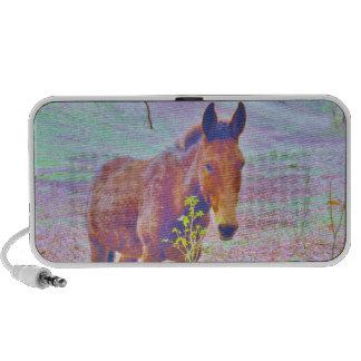 Horse in a Pastel RAINBOW PURPLE FIELD : add name Mp3 Speaker