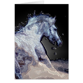 Horse in Action Card