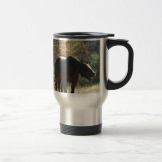 Horse in Autumn Travel Mug