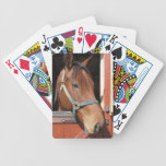 Horse in Barn Bicycle Playing Cards