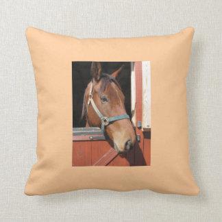 Horse in Barn Pillow