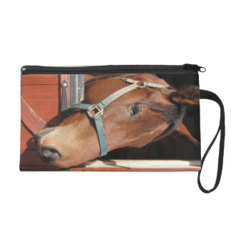 Horse in Barn Wristlet Clutches