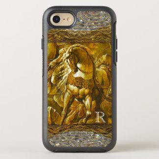 Horse in Battle Pretty Monogram OtterBox Symmetry iPhone 8/7 Case