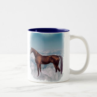 horse in cloud 9, mug