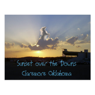horse in clouds, Sunset over the DownsClaremore... Postcard