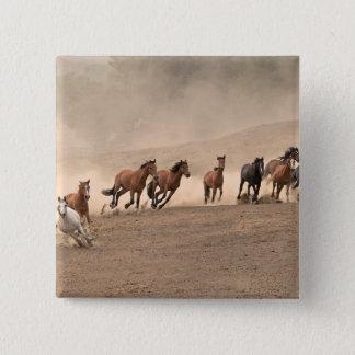 Horse In Fall II Button