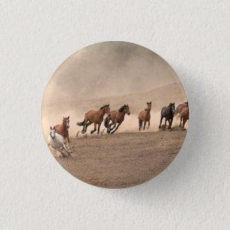Horse In Fall II Pinback Button