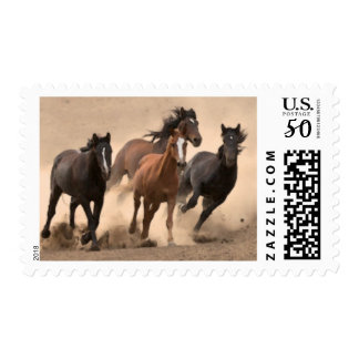 Horse In Fall II Postage