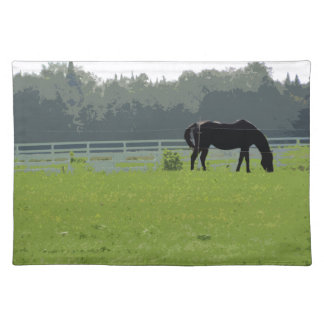 Horse In Field Designer Placemats