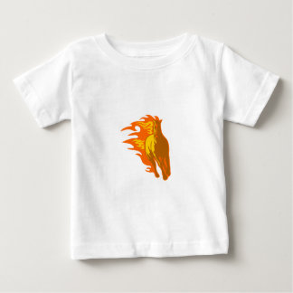 Horse in Flames Baby T-Shirt