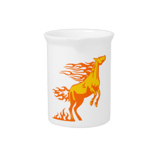 Horse in Flames Beverage Pitchers