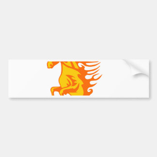 Horse in Flames Bumper Sticker