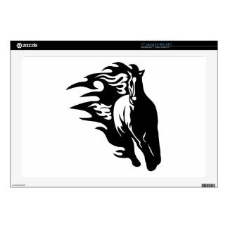 "Horse in Flames Decal For 17"" Laptop"