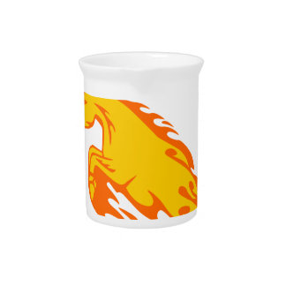 Horse in Flames Drink Pitcher