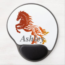 Horse in flames gel mouse pad