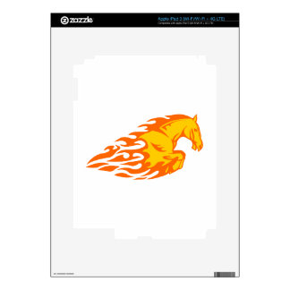 Horse in Flames iPad 3 Skins