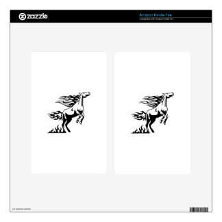 Horse in Flames Kindle Fire Skins