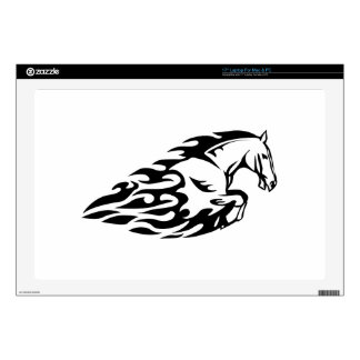 Horse in Flames Laptop Decal