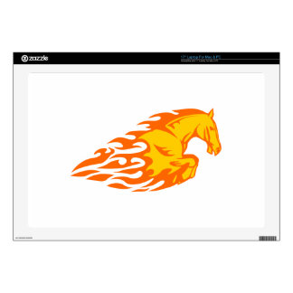 Horse in Flames Laptop Skins