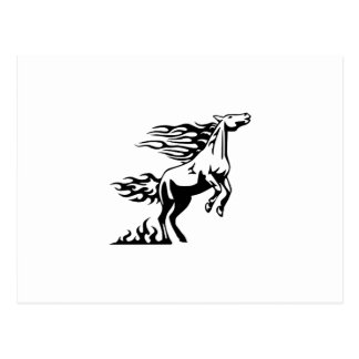 Horse in Flames Postcard