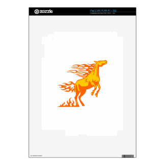 Horse in Flames Skin For The iPad 2