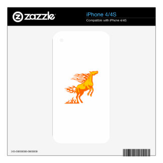 Horse in Flames Skin For The iPhone 4S