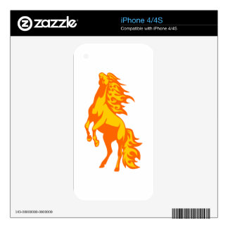 Horse in Flames Skins For iPhone 4