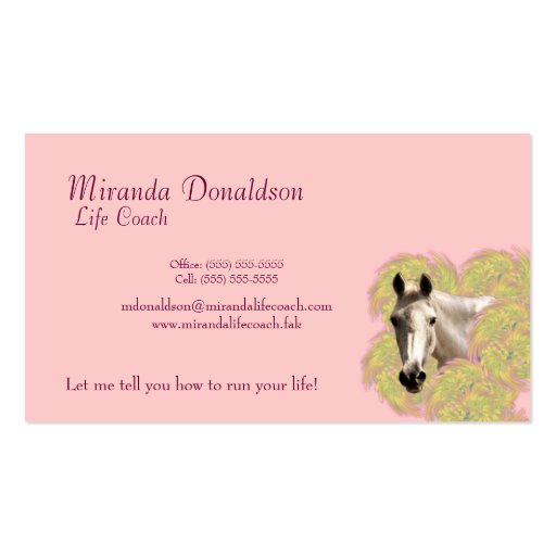 Horse in Flowers Business Card