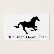 Horse In Galop Black Silhouette Business Card
