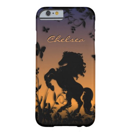 Horse in Garden Personal Dusk Barely There iPhone 6 Case