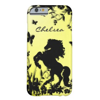 Horse in Garden Personal Yellow Barely There iPhone 6 Case