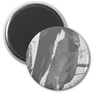 Horse in Grayscale Magnet
