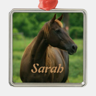Horse in Green Pasture Personalized Ornament