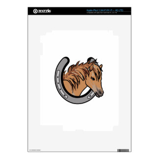 Horse In Horseshoe iPad 3 Skin