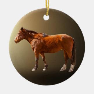 HORSE IN LIGHT CERAMIC ORNAMENT