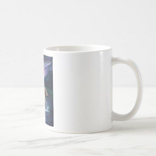 Horse in Moonlight Classic White Coffee Mug