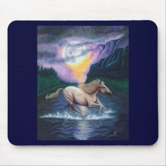 Horse in Moonlight Mouse Mats