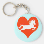Horse In My Heart (white on red) Keychain