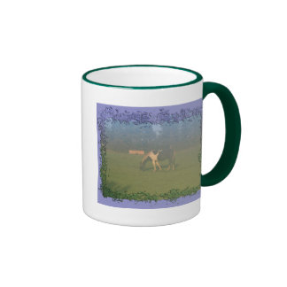 Horse In Pasture: Spotted Horse Eating Mug