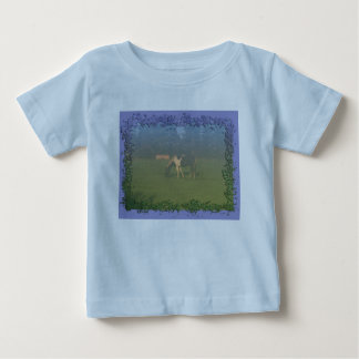 Horse In Pasture: Spotted Horse Eating T-shirt