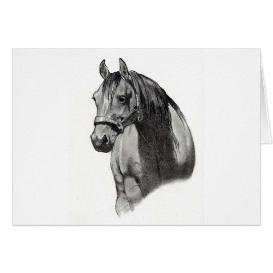 HORSE IN PENCIL CARD