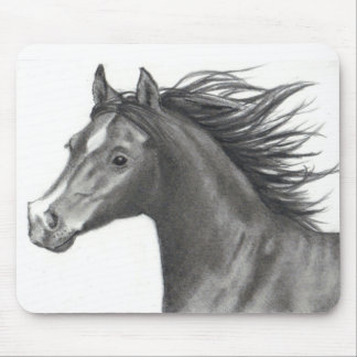 HORSE IN PENCIL: REALISM ART MOUSE PAD