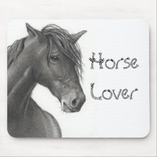 HORSE IN PENCIL: REALISM: HORSE LOVERS MOUSE PAD