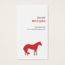 HORSE in RED Business Card