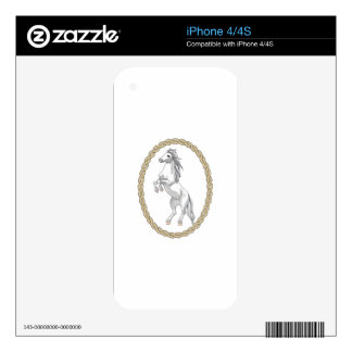 HORSE IN ROPE FRAME DECAL FOR THE iPhone 4